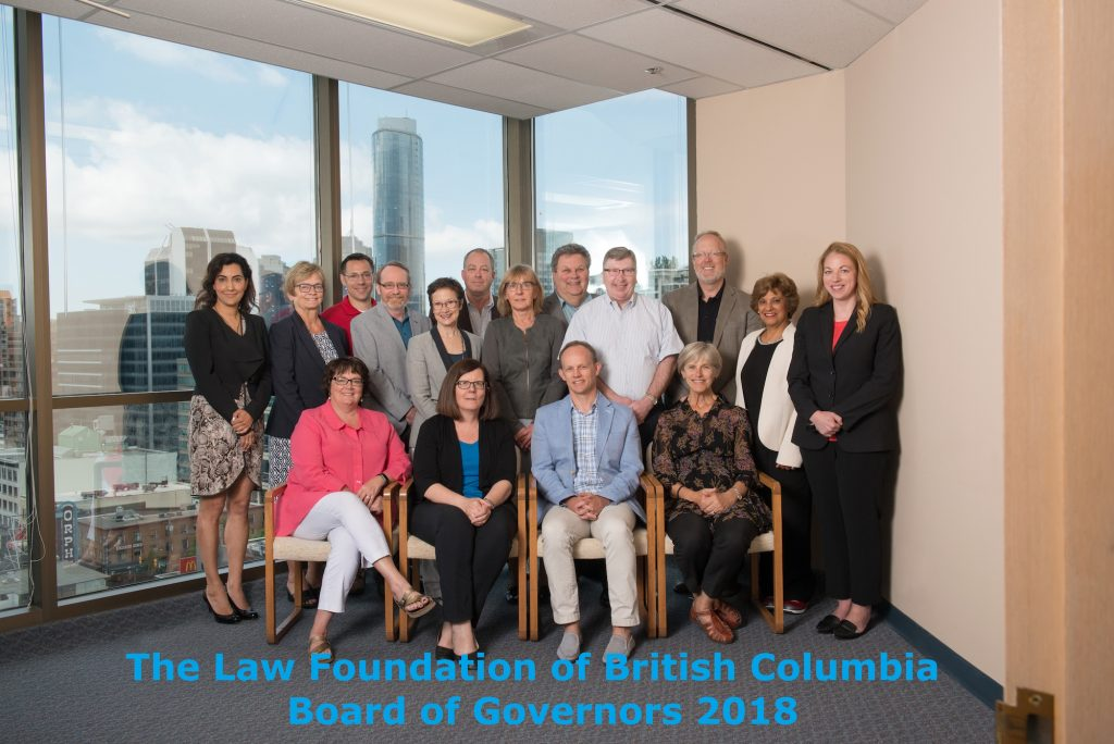 Law Foundation of BC Board of Governors, 2018