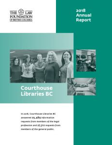 2018 Law Foundation Annual Report